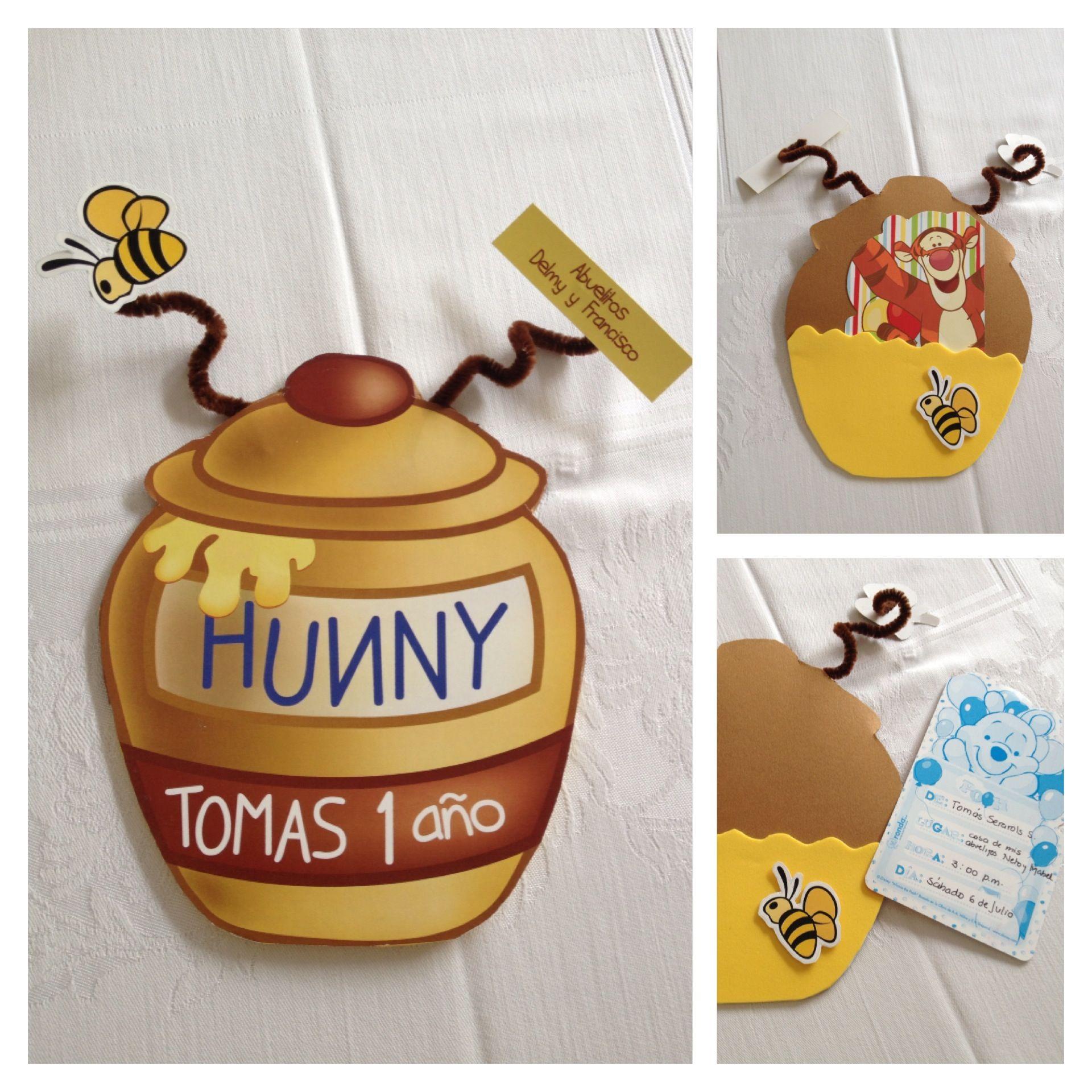 Winnie pooh theme party invitations | cumple bruno 1 winnie pooh ...