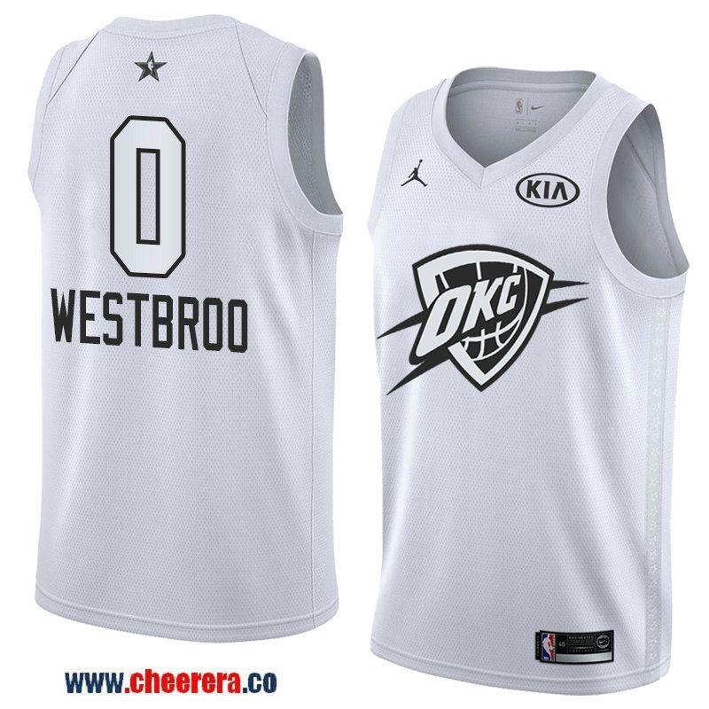 4a25712a44dc men s western conference oklahoma city thunder  0 russell westbrook white  2018 nba all-star jersey