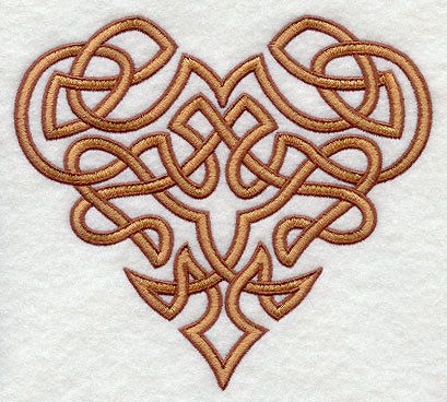 Celtic Knot Heart Embroidered Flour Sack Hand Dish Towel