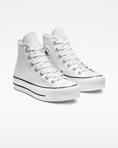 Size 9 Womens Chuck Taylor All Star Platform Clean Leather ...