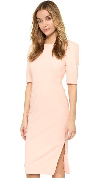 ¡Cómpralo ya!. St Olcay Gulsen Tailored Drape Dress - Peachie. A sharp seamed ST Olcay Gulsen dress with a slim strap across the draped scoop back. Padding lifts the shoulders. Side slit. Hidden side zip. Short sleeves. Lined. Fabric: Suiting. 95% polyester/5% elastane. Wash cold or dry clean. Imported, Macedonia. Measurements Length: 42.5in / 108cm, from shoulder Measurements from size 38. Available sizes: 34,36,38,40,42 , vestidoinformal, casual, informales, informal, day, kleidcasual…