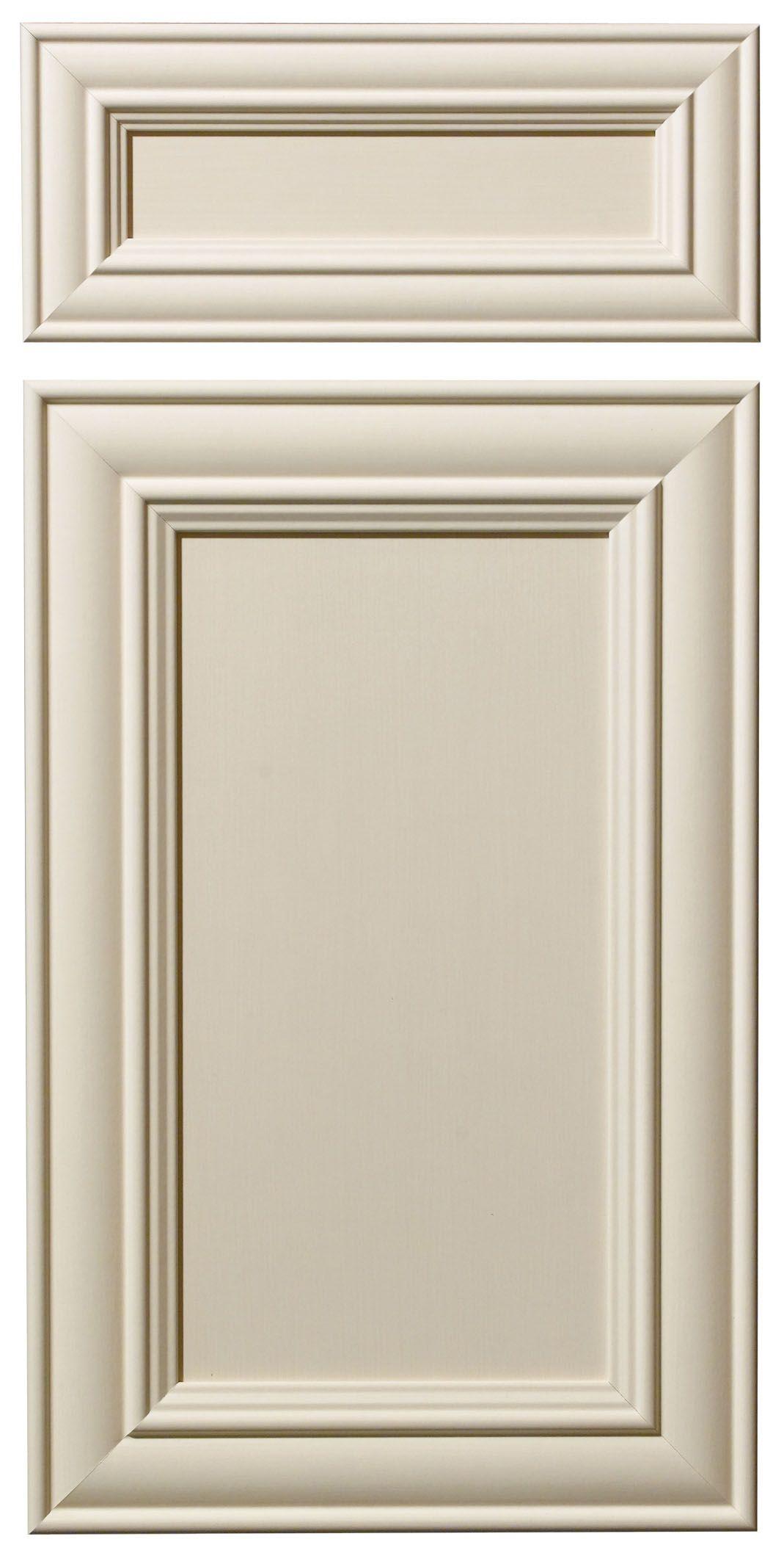 Front Door Texture paris door & drawer front - shown in antique crème smooth texture
