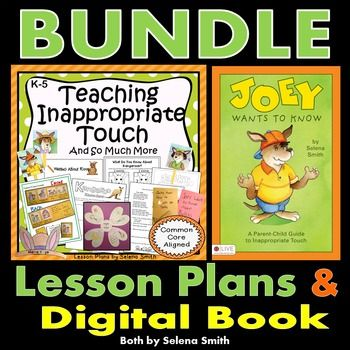 Inappropriate Touch Bundle Activities, Students and Language arts - safety plans