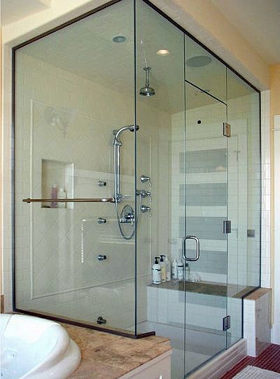 Glass Steam Shower Enclosures Binswanger Glass Frameless Steam Shower With Fixed Transom Brushed Nickel Glass Shower Doors Shower Doors Steam Shower Units