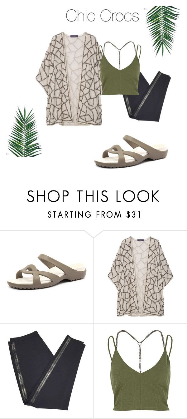 """Chic Crocs"" by lifeaccordingtojamie on Polyvore featuring Crocs, Violeta by Mango, Burberry, River Island and Nika"