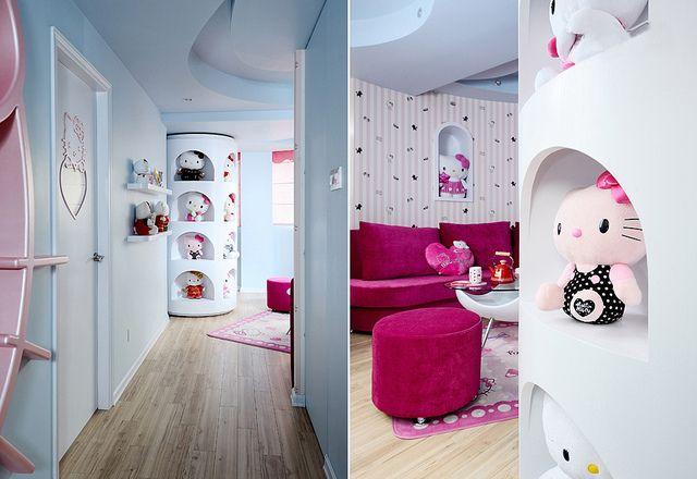 Bon A Hello Kitty Theme Home Decoration   Smallrooms