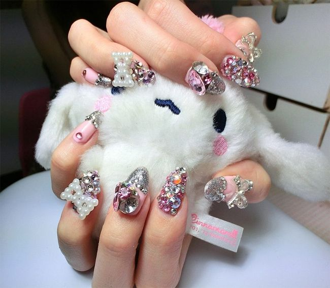 Beautiful Japanese Nail Designs for Girls | Nail Designs | Pinterest ...