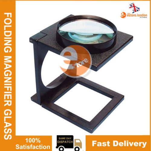 NEW-MAGNIFYING-GLASS-STAND-THIRD-HAND-HOBBY-CRAFT-FOLDING-MAGNIFIER-HANDS-FREE