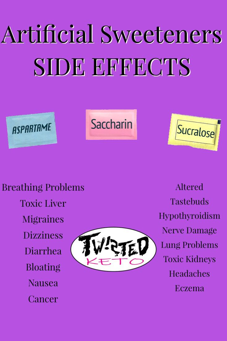 Artificial Sweetner Side Effects - We recommend using ...