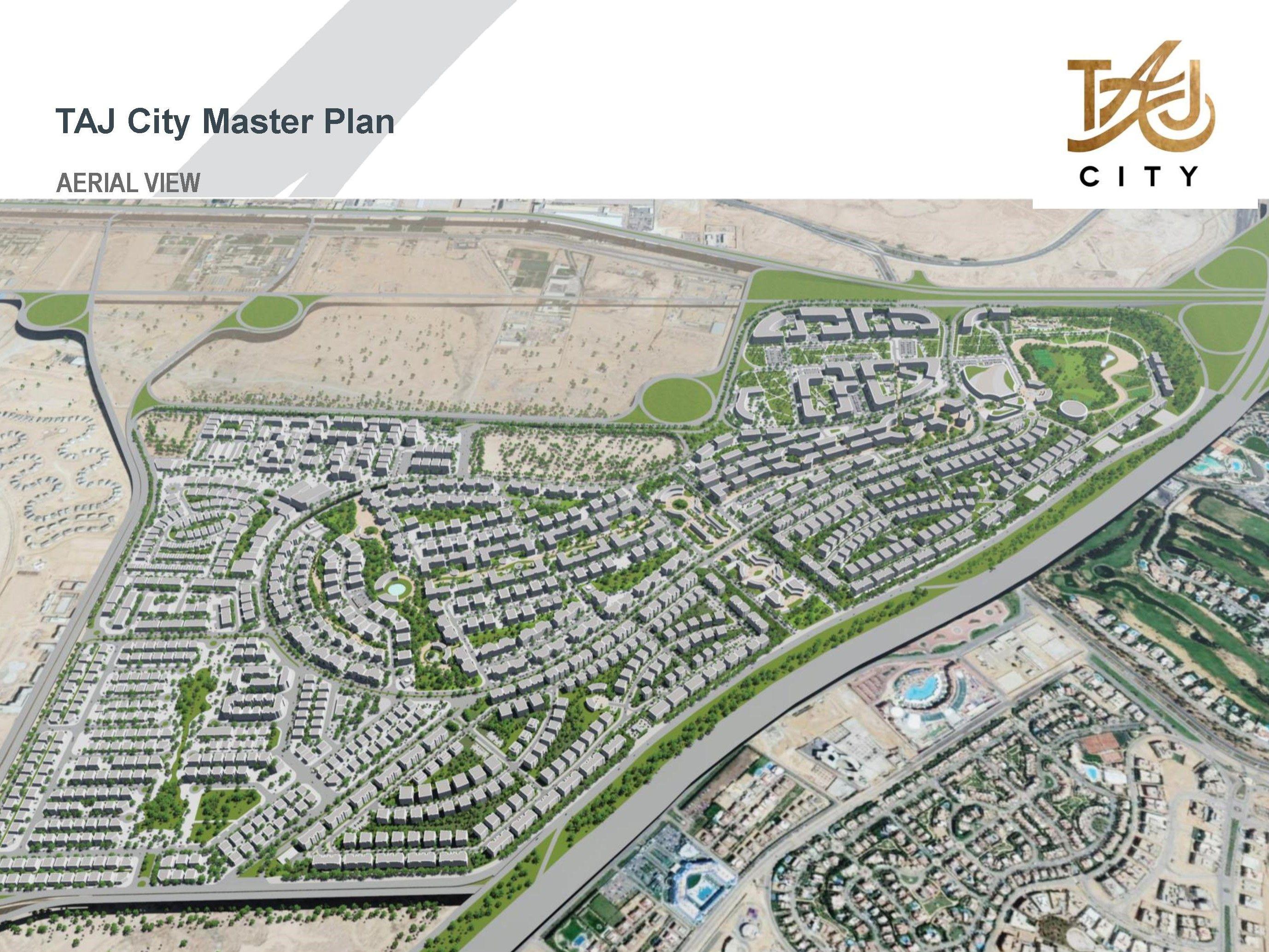 تاج سيتي القاهرة الجديدة Aerial View City Aerial