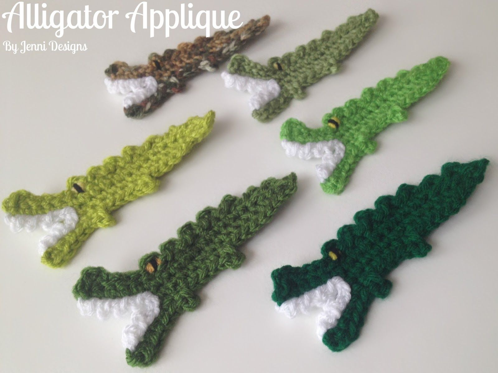 Free Crochet Pattern Tutorial: Alligator Applique | crafty ...
