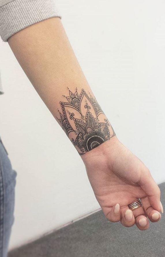 Wrist Mandala Tattoo Inkstylemag Wrist Tattoo Cover Up Cover Tattoo Mandala Wrist Tattoo