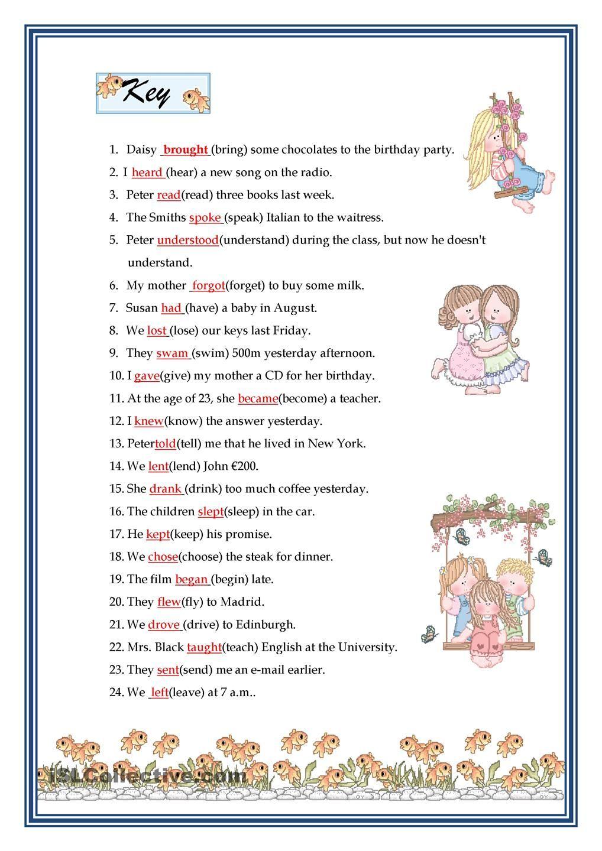 Past Simple Irregular Verbs Past Tense Worksheet Irregular Verbs Verb Worksheets English worksheets past tense