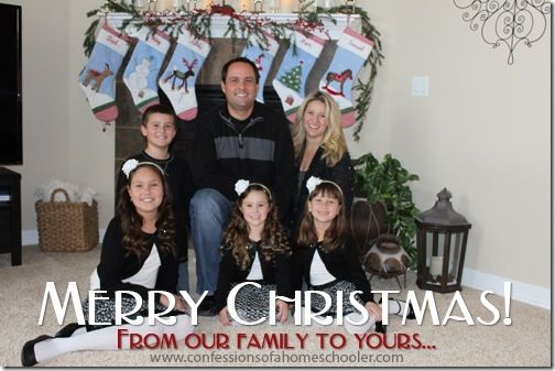 Merry Christmas everyone! http://www.confessionsofahomeschooler.com/blog/2014/12/merry-christmas-from-our-family-to-yours.html