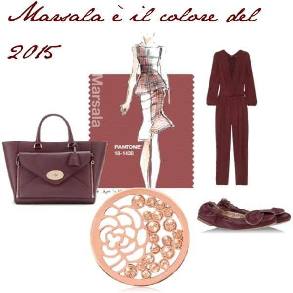 Love how rose Nikki Lissoni complements Marsala (Pantone's color of the year for 2015)! -xx-