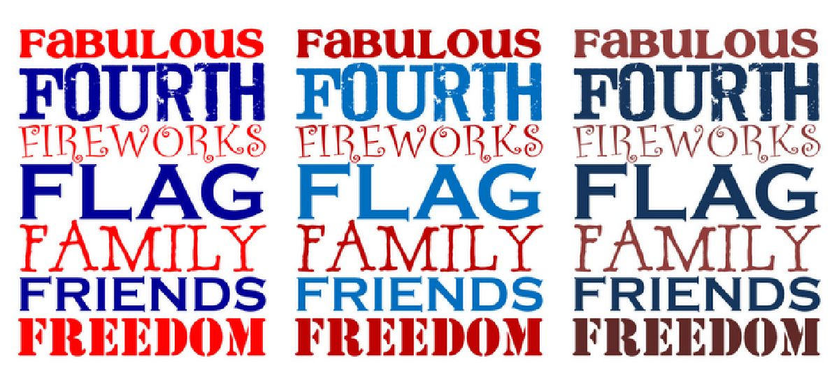 Free 4th of July Printables - 3 color options - Red White and Blue #4thofJuly #printables