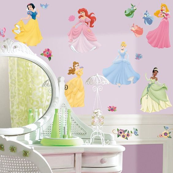 Roommates Rmk1470Scs Disney Princess Peel and Stick Wall Decals With Gems -- Startling big discounts available here : Kids Room Decor