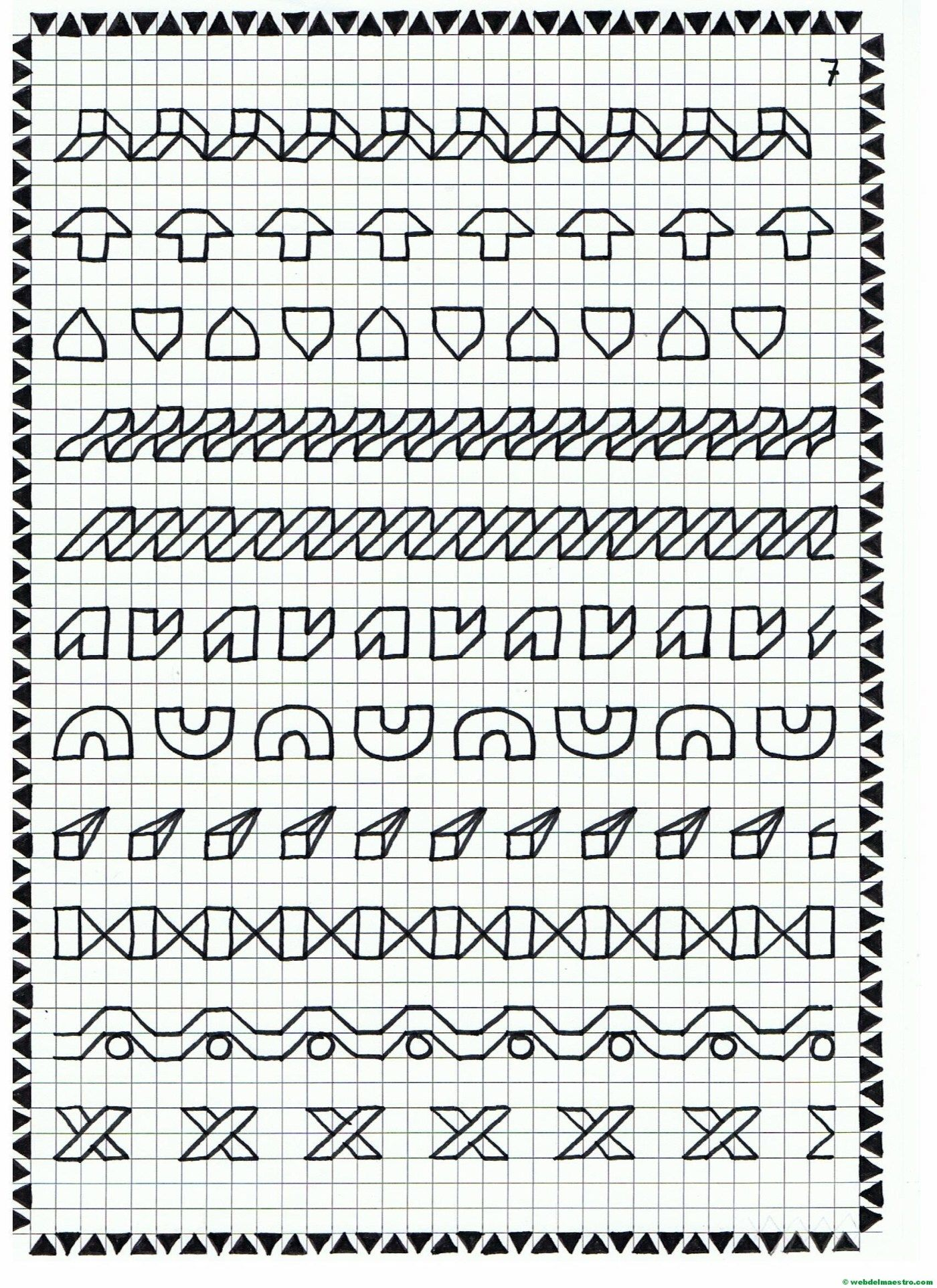 Cenefas Dibujos En Cuadricula Para Imprimir Web Del Maestro Dibujos En Cuadricula Cuadricula Para Dibujar Dibujos En Cuadros