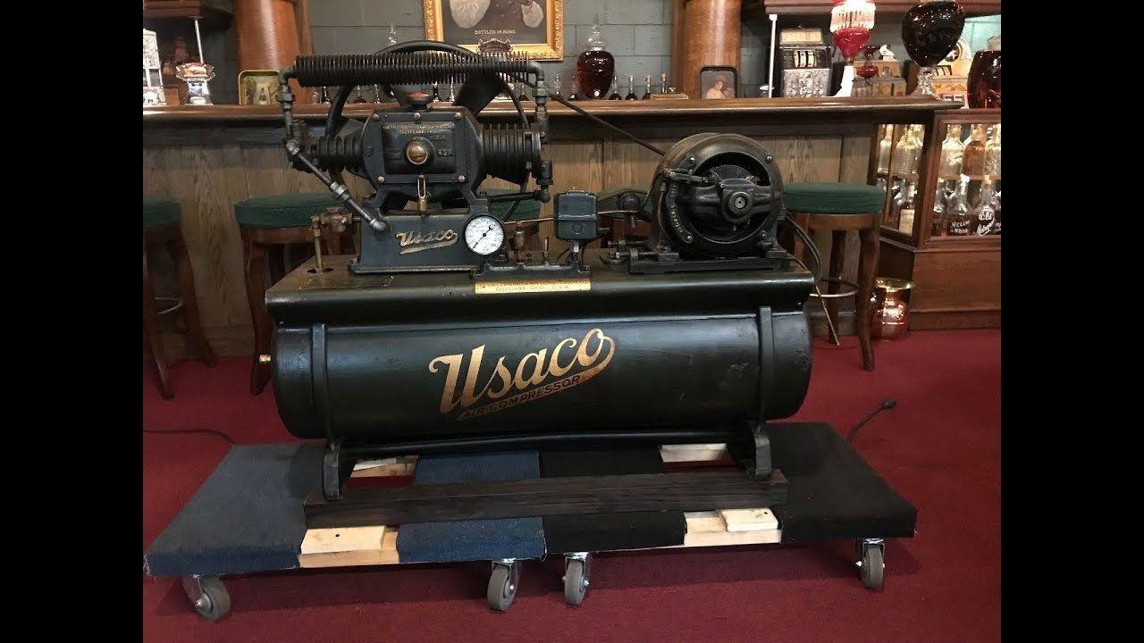 1920's USACO United States Air Compressor Co. FlatBelt