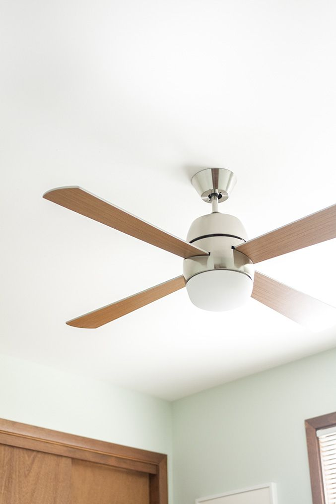 Mid Century Inspired Ceiling Fan