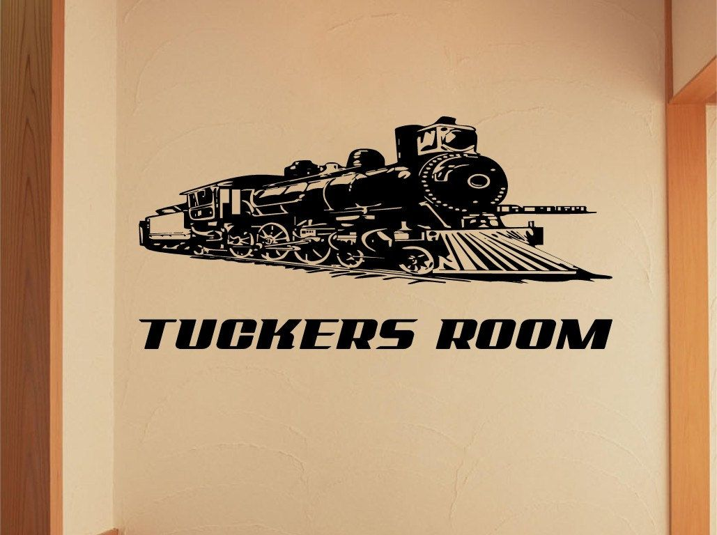 Train locomotive Car Wall Decal, Muscle Car Decals, Muscle Car ...
