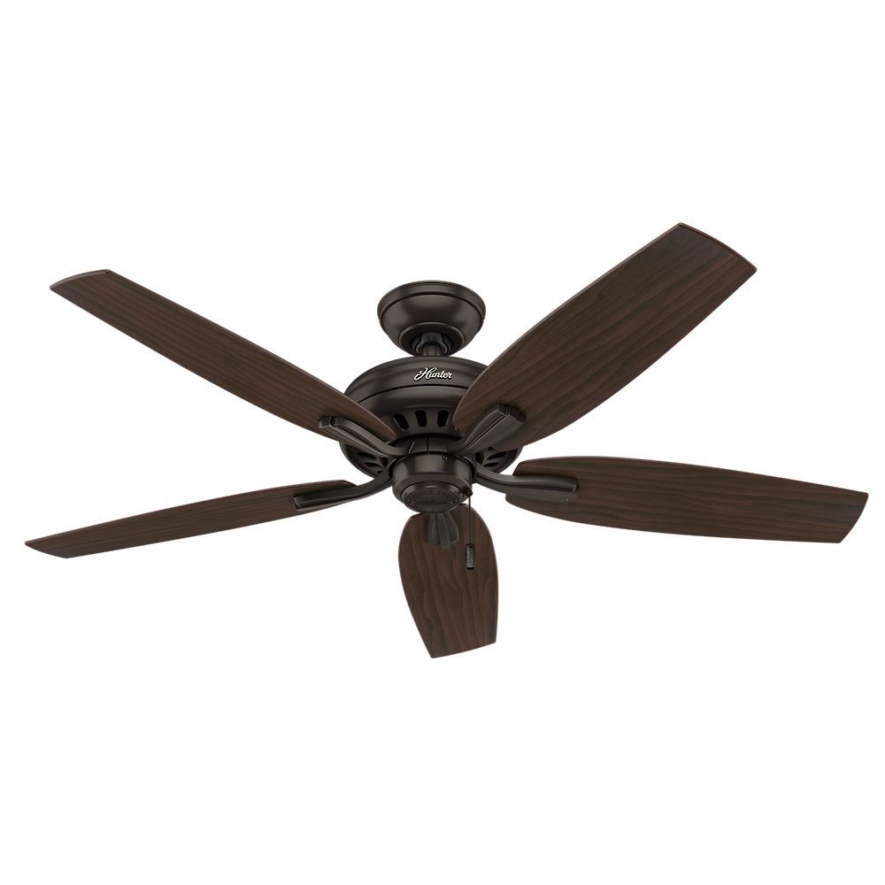 Hunter Newsome 52 Inch Premier Bronze No Light Ceiling Fan With Images Bronze Ceiling Fan Ceiling Fan Black Ceiling Fan