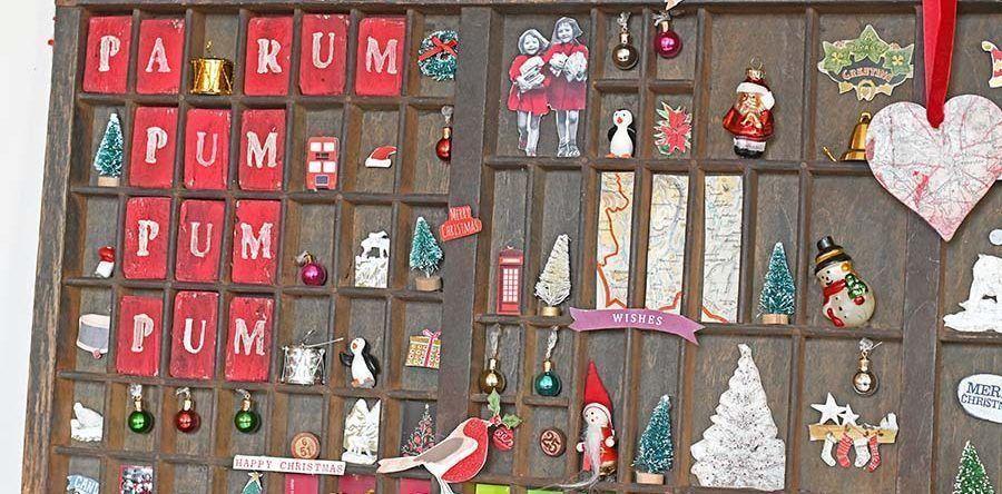 How To Style A Christmas Vintage Printers Tray #printertray DIY Christmas Home Decor - DIY Project - Christmas Craft Ideas - How To  Style A Christmas Vintage Printers Tray  #christmas #christmasdecor #christmascrafts #diy #doityourself #crafter #diyideas #craft #crafting #wallart #art #artsy #homedecor #homedecorideas #printerstray How To Style A Christmas Vintage Printers Tray #printertray DIY Christmas Home Decor - DIY Project - Christmas Craft Ideas - How To  Style A Christmas Vintage Printe #printerstray