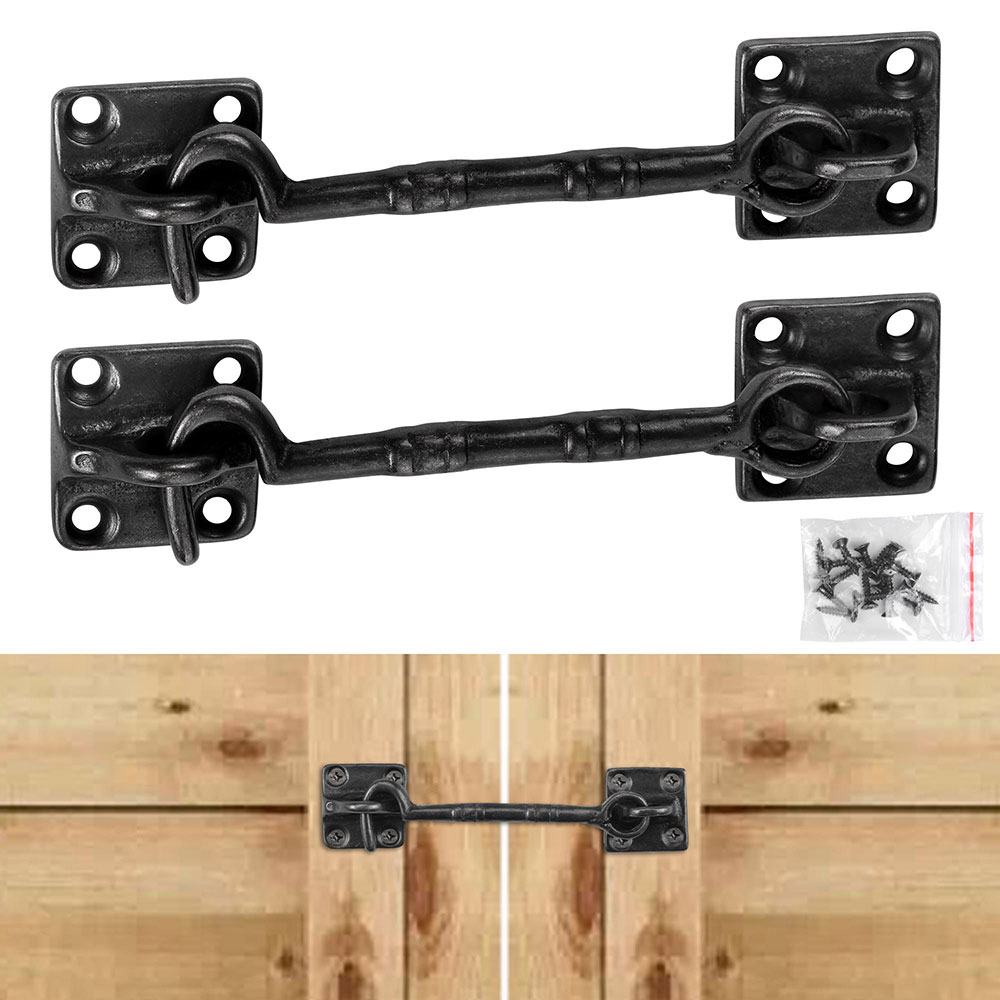 Yescom 2 Pcs 4 1 2 Sliding Barn Door Lock Latch Hook Eye Cast Copper Hardware For Wood Doors Window Gate Cabinet Walmart Com Barn Door Locks Sliding Barn Door Lock