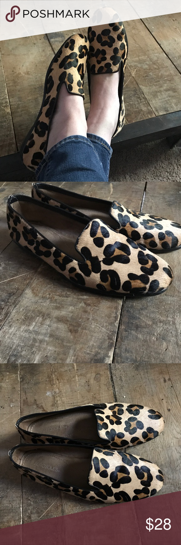 f0bd5b863063 Aerosoles Betunia Leopard Print Calf Hair Loafers Aerosoles Betunia Leopard  Print Calf Hair Loafers. Size 9 1/2. Cute and comfortable shoes.