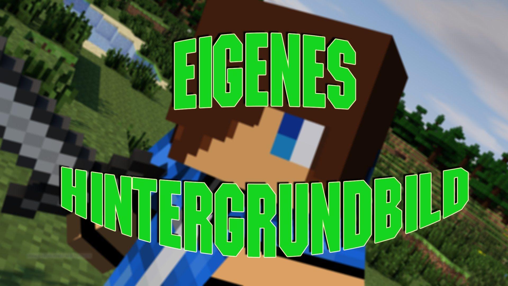 Minecraft Hintergrundbild Mit Eurem Skin Erstellen YouTube - Eigene skins fur minecraft erstellen