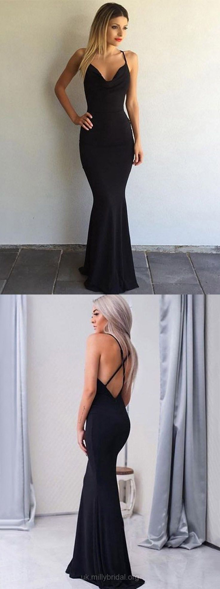 Black prom dresses mermaid prom dresses long sexy evening