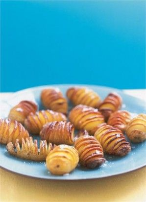 Nigella's Hasselback Potatoes - Butter, salty goodness - Easy to make and people think you went to a lot of trouble!
