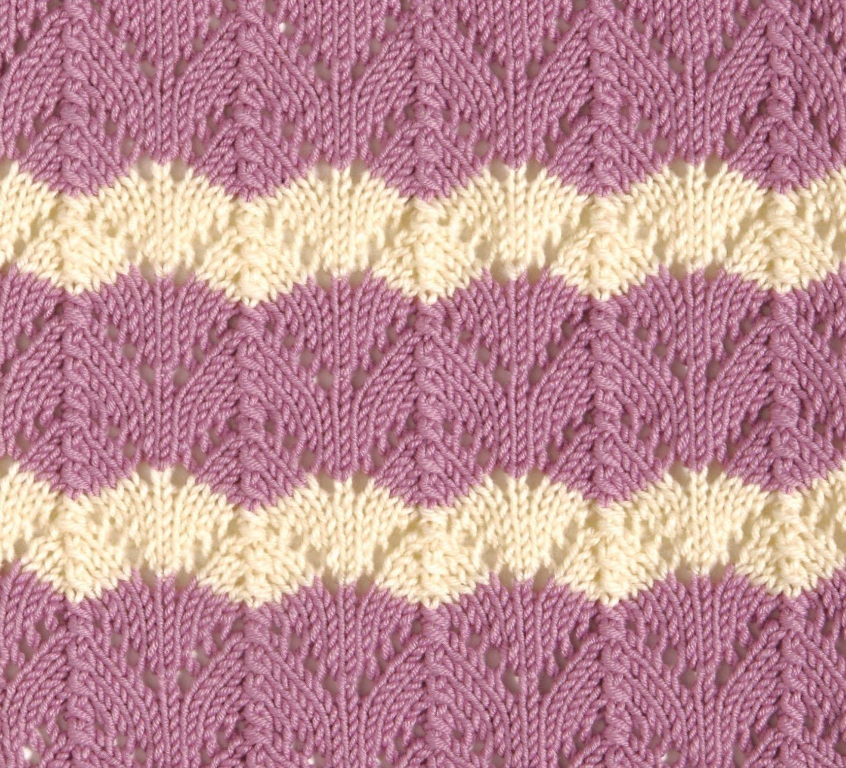 Fishtail Lace | Ripple stitch, Stitch patterns