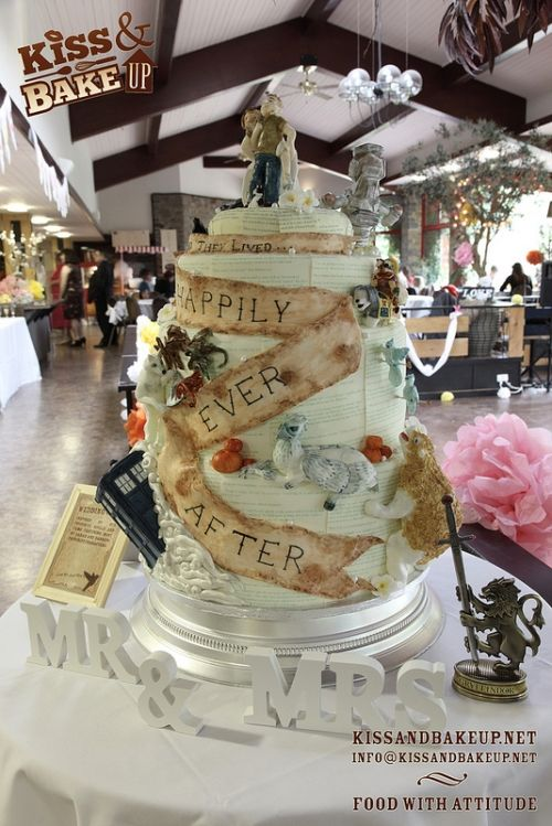 harry potter doctor who wedding cake the ultimate wedding cake by and bake up bakery 15098