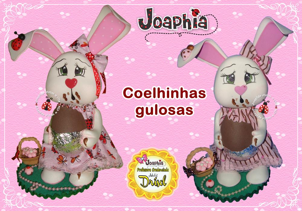 JOAPHIA ARTES E CIA: COELHINHA GULOSA EM E.V.A. 3D COM MODELADORES DRISOL