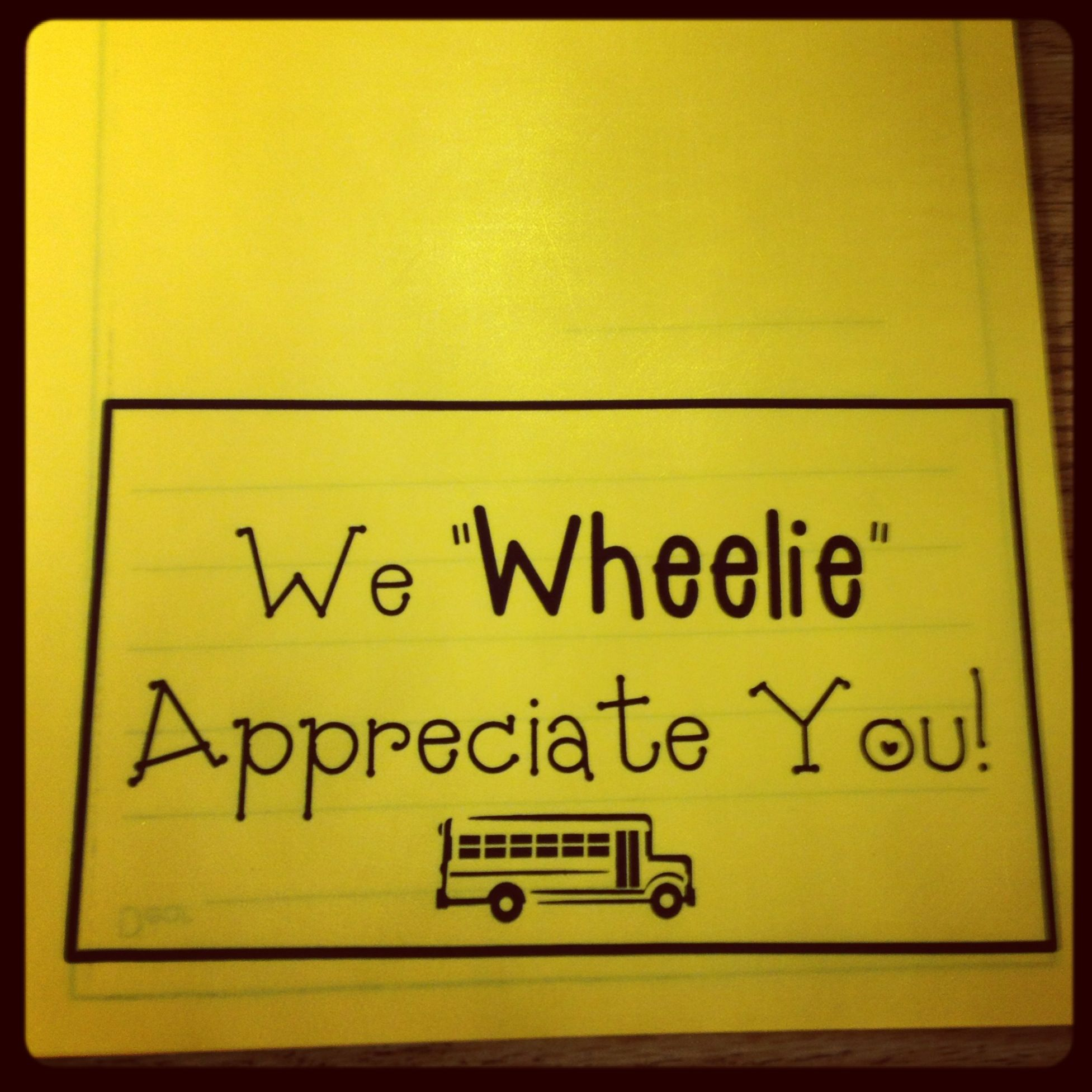 students fold into cards for bus drivers on bus driver appreciation