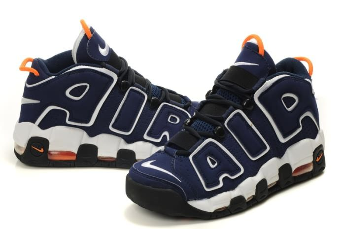 Nike Air More Uptempo Scottie Pippen Basketball shoes in White Blue-XT