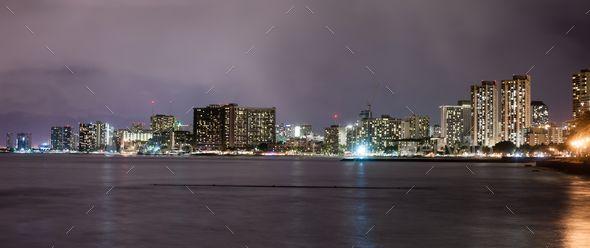 Honolulu Hawaii Night Waikiki Skyline Oahu Island - Stock Photo - Images Download here : https://photodune.net/item/honolulu-hawaii-night-waikiki-skyline-oahu-island/20079375?s_rank=261&ref=Al-fatih