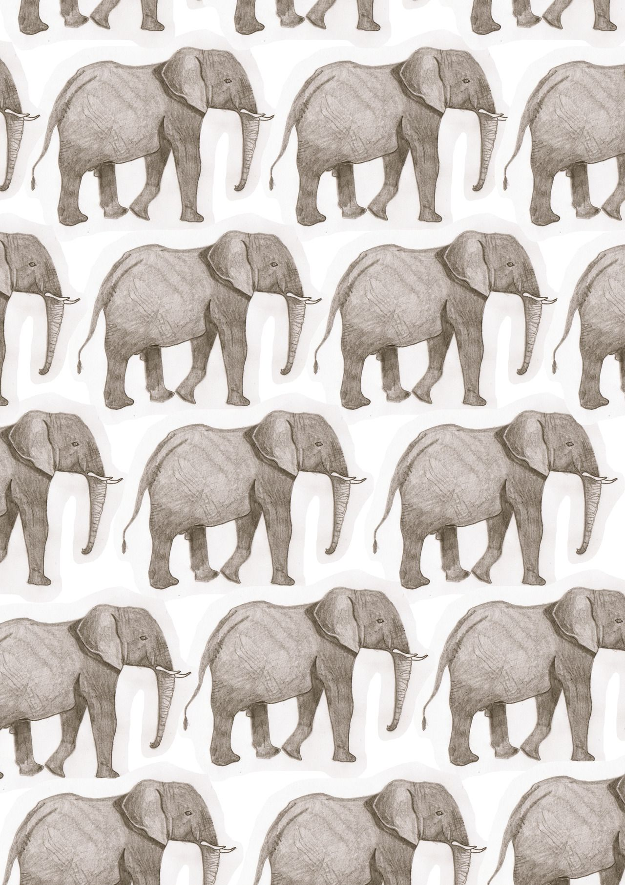 Elephant iphone wallpaper tumblr - Doodoodloo I Used An Illustration I Did In Year 12 To Make Elephant Wallpaper