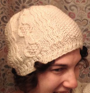 e068c54850a This slightly slouchy hat features a wave and banjo cable pattern  reminiscent of American vaudeville theater in the early 1900s.