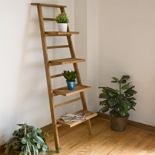 Teak Leaning Plant Stand Planters And Windowboxes Outdoor Plant Stand Indoor Wood Plant Stand Plant Ladder