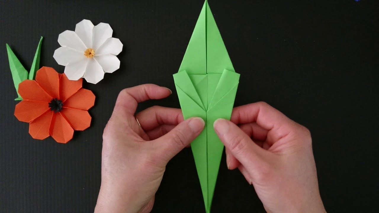 Origami flower stem leaf stand anime pinterest origami origami flower stem leaf stand mightylinksfo