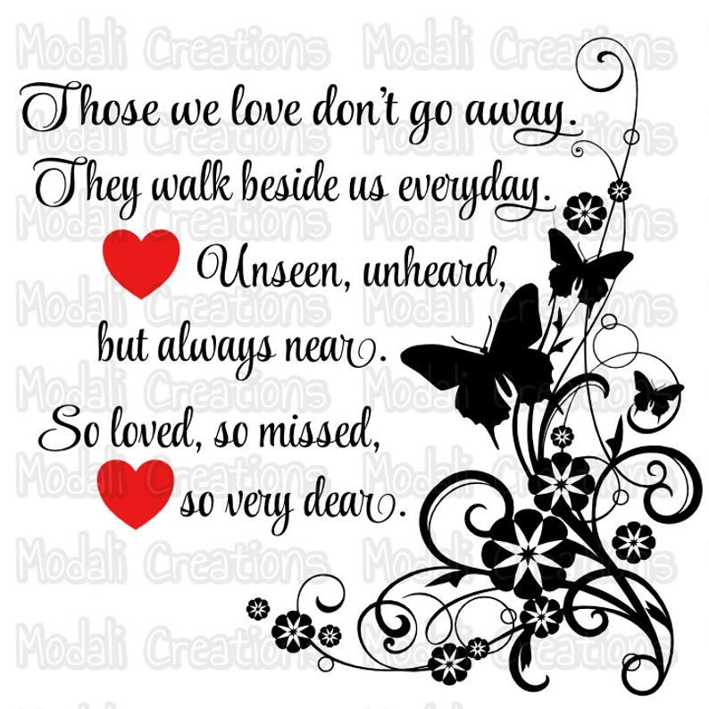 Those we love don't go away SVG   Etsy