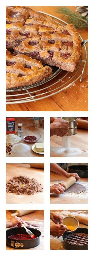 linzer torte in 2018 kuchen und torten pinterest kuchen backen und kuchen rezepte. Black Bedroom Furniture Sets. Home Design Ideas