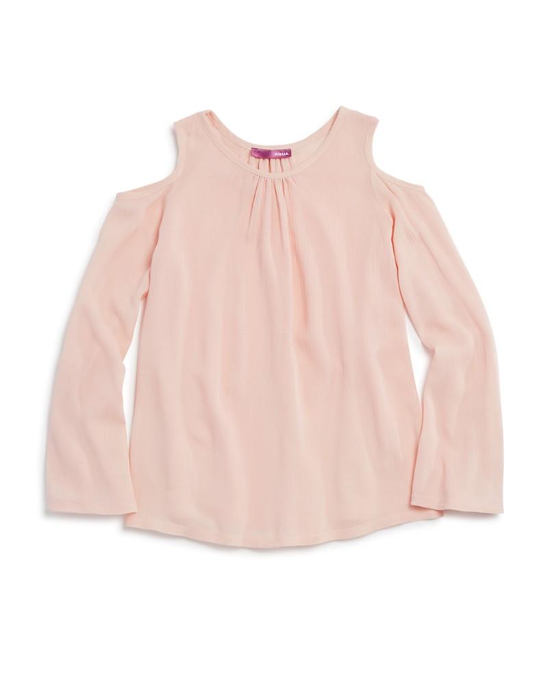 36.00$  Buy here - http://vivka.justgood.pw/vig/item.php?t=06iy69a40428 - AQUA Girls' Cold Shoulder Gauze Top - Big Kid - 100% Exclusive