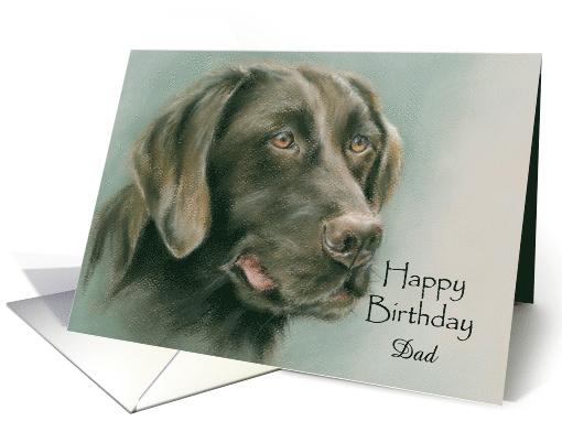 Chocolate Labrador Retriever Personalized Birthday For Relative Dad Card Labrador Retriever Chocolate Labrador Retriever Dad Cards