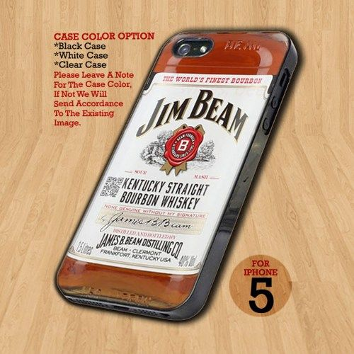 Jim Beam Kentucky Straigh - Design on Hard Case For iPhone 5 Case