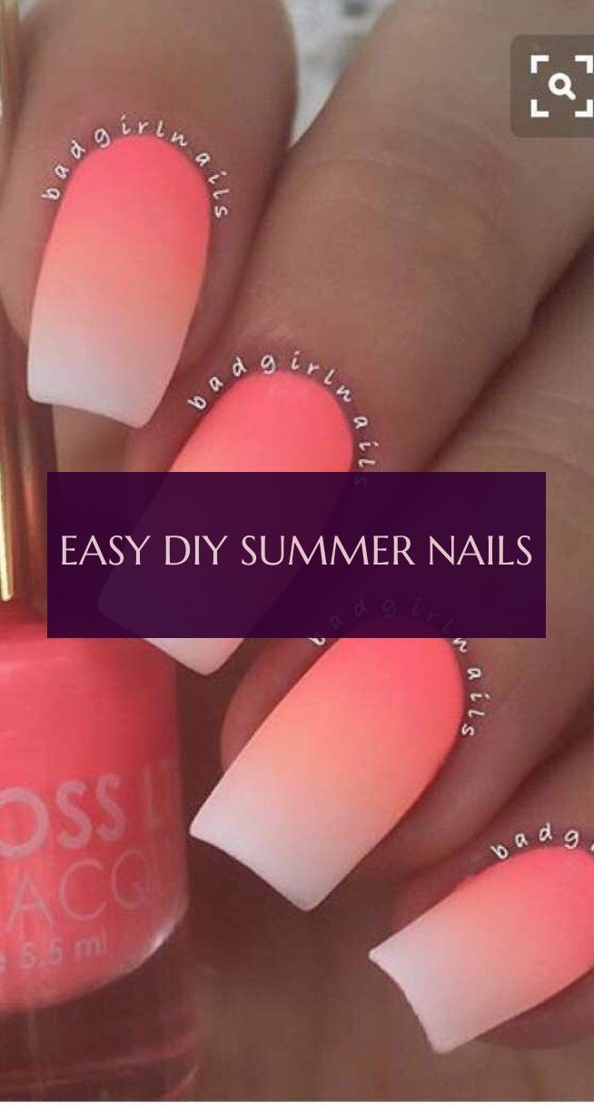 easy diy summer nails