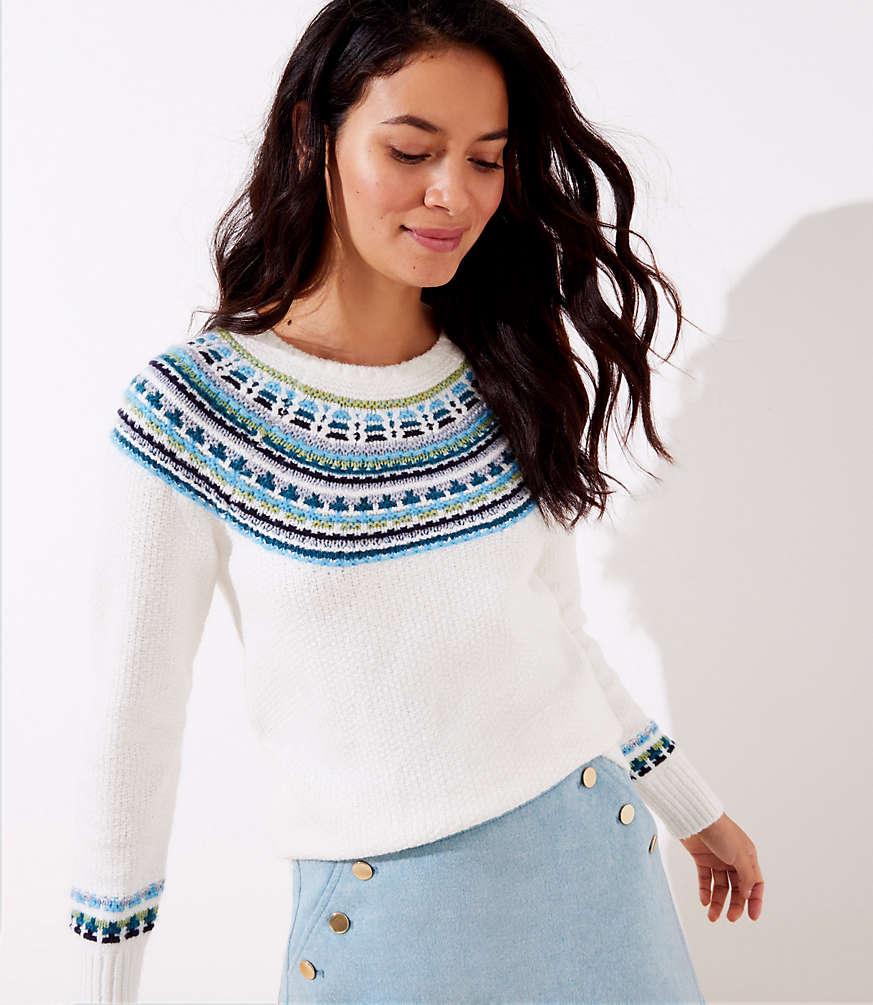 Shop LOFT for stylish women's clothing. You'll love our irresistible Modern Fairisle Sweater - shop LOFT.com today! #loftclothes