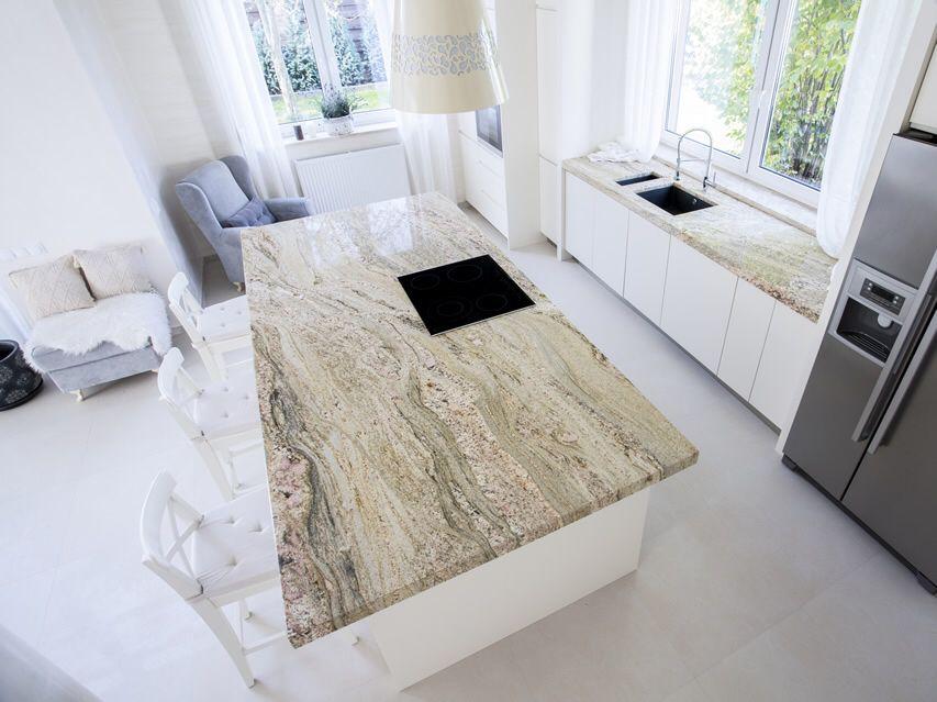 Beautiful marble white kitchen